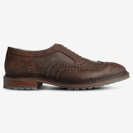 McTavish Oxford Wingtip Waxed Suede Dress Shoe, 2821 Brown Waxed Suede, blockout