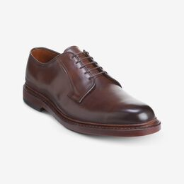 Leeds Dress Plain-toe Blucher Shoe, 3420 Cigar, blockout