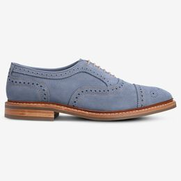 Strandmok Suede Cap-Toe Oxford, 3339 Denim, blockout