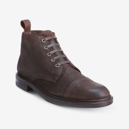 Patton Cap-Toe Suede Boot with Dainite Rubber Sole, 3597 Snuff Brown Suede, blockout