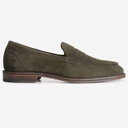 Mercer Street Suede Penny Loafer, 5345 Olive, blockout