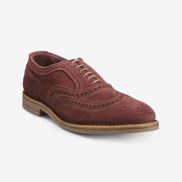Neumok Suede Wingtip Oxford, 3346 Cherry, blockout