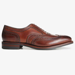 McAllister Wingtip Oxford with Dainite Rubber Sole, 6226 Dark Chili, blockout