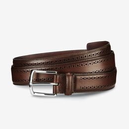 Manistee Dress Belt, 74006 Dark Chili, blockout