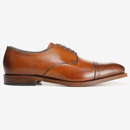Boulevard Cap Toe Dress Shoe, 7484 Walnut, blockout