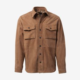 Logan Maxwell Cow Skull Suede Work Shirt by Cockpit USA, 1015855 Tan Cow Skull, back