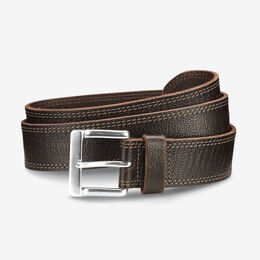 Quay Ave Casual Belt, 75807 Brown Soft Grain Leather, blockout