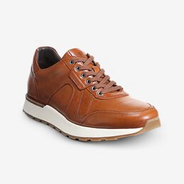 A-Trainer Lace-Up Sneaker, 3173 Walnut Leather, blockout