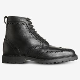 Long Branch Wingtip Boots, 3113 Black Tumbled, blockout