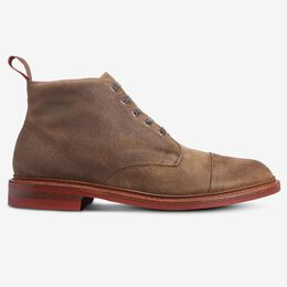 Patton Cap-Toe Suede Boot with Dainite Rubber Sole, 3596 Light Brown Suede, blockout