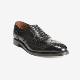 Cambridge Shell Cordovan Wingtip, 8605 Black, blockout