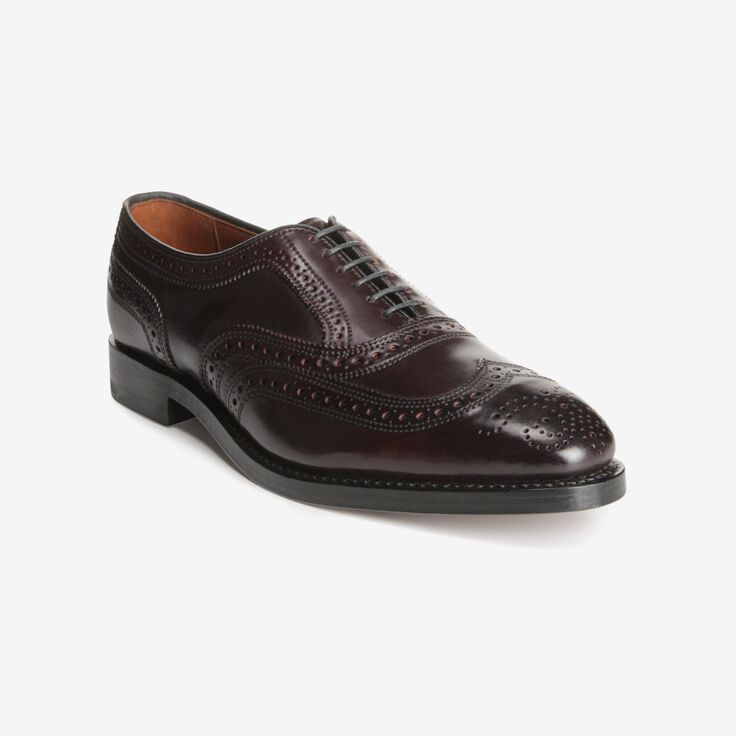Cambridge Shell Cordovan Wingtip, 8685 Burgundy, blockout