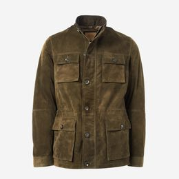 Randall Suede Field Jacket, 1016524 Dark Olive, blockout