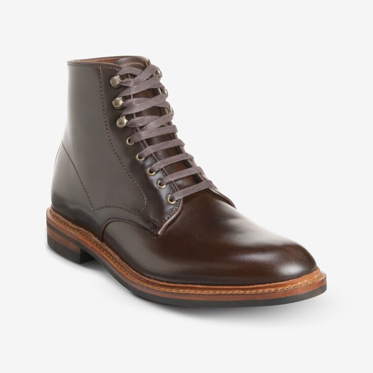 Higgins Mill Boot with Shell Cordovan Leather, 3073 Brown, blockout