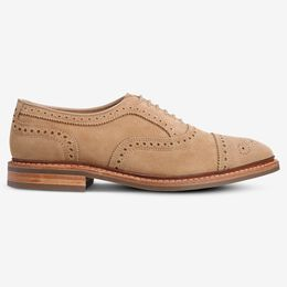 Strandmok Suede Cap-Toe Oxford, 3340 Camel, blockout