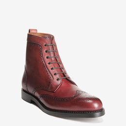Dalton Wingtip Dress Boots, 0115 Oxblood, blockout